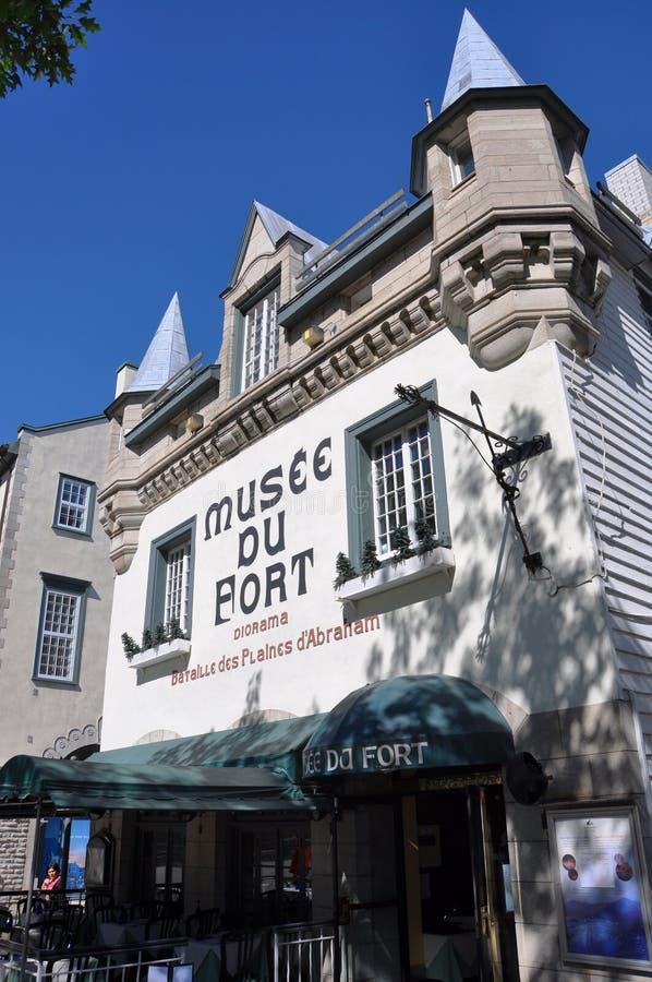 Museo della fortificazione a vecchio Quebec City fotografia stock libera da diritti