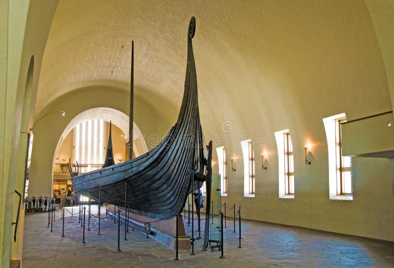 Museo della nave del Vichingo. Oslo. La Norvegia fotografia stock