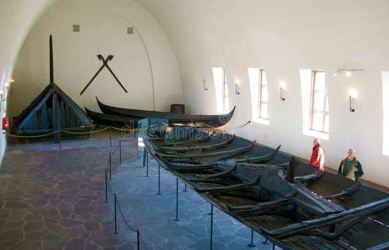Museo della nave del Vichingo. Oslo. La Norvegia immagini stock libere da diritti