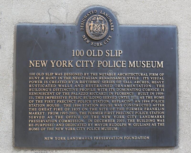 Museo della polizia di New York in Lower Manhattan fotografia stock