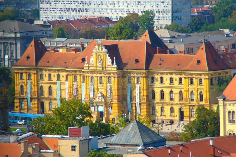 Museo delle arti e dei mestieri, Zagabria, Croazia fotografia stock