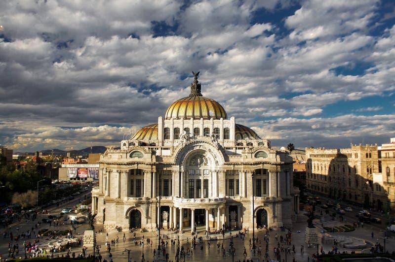 Museo delle belle arti a Messico City Palacio Del Bellas Artes DF immagine stock libera da diritti