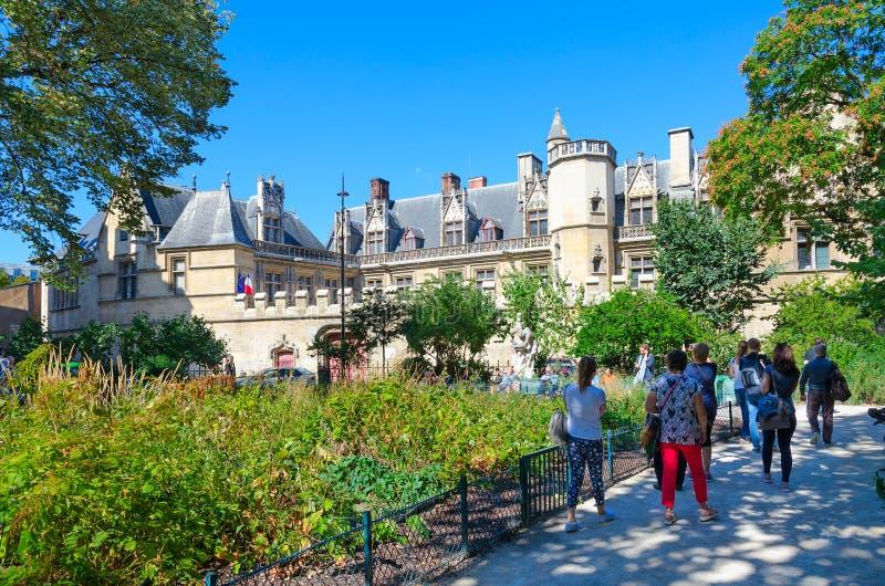 Museo dello stato dei termini di medio evo e del palazzo Cluny, Parigi, Francia immagine stock libera da diritti