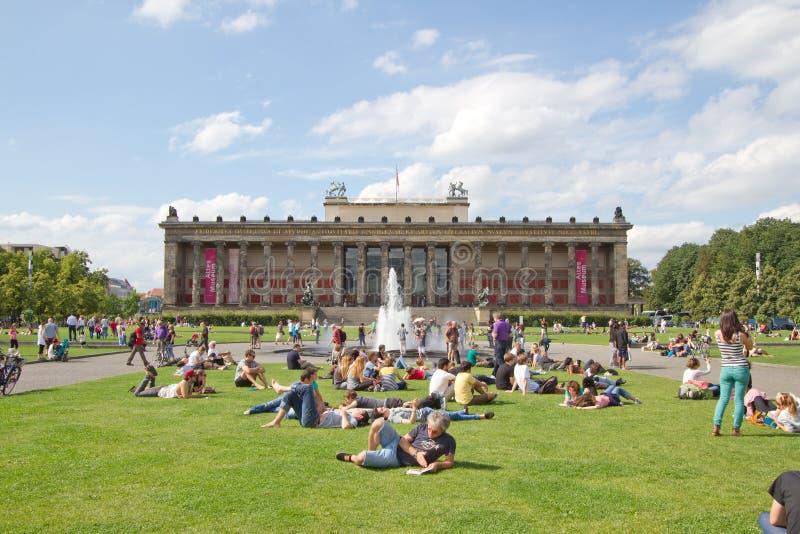 Museo di Altes (vecchio museo) sull'isola del museo, Berlino immagini stock