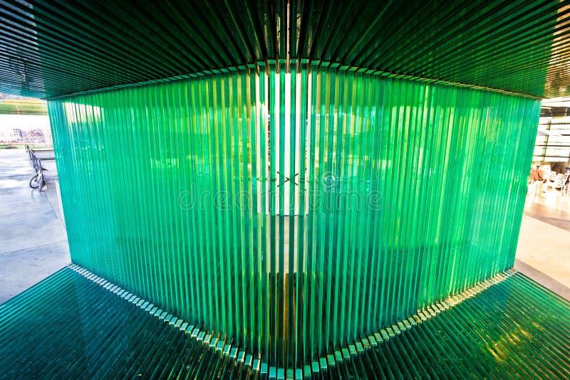 Museo di arte contemporanea in dettaglio esteriore di Zagabria immagini stock libere da diritti