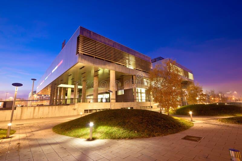Museo di arte contemporanea nell'esterno di Zagabria fotografie stock libere da diritti