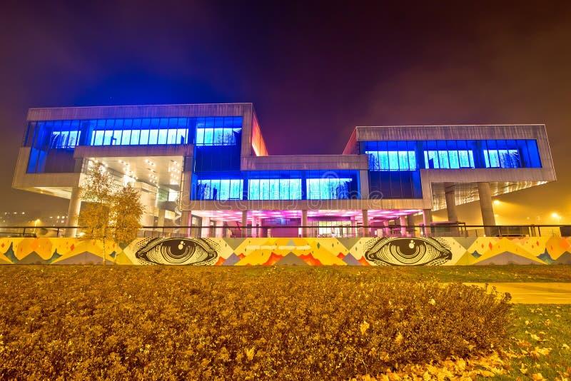 Museo di arte contemporanea a Zagabria fotografia stock