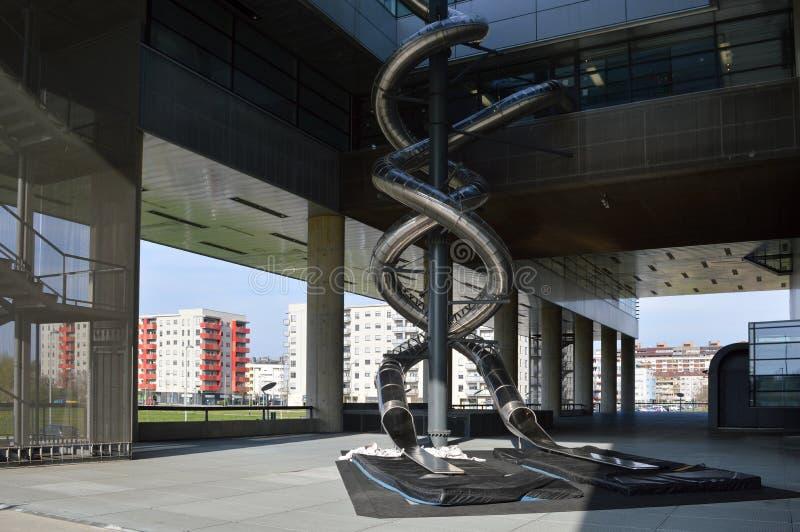 Museo di arte contemporanea a Zagabria immagine stock libera da diritti