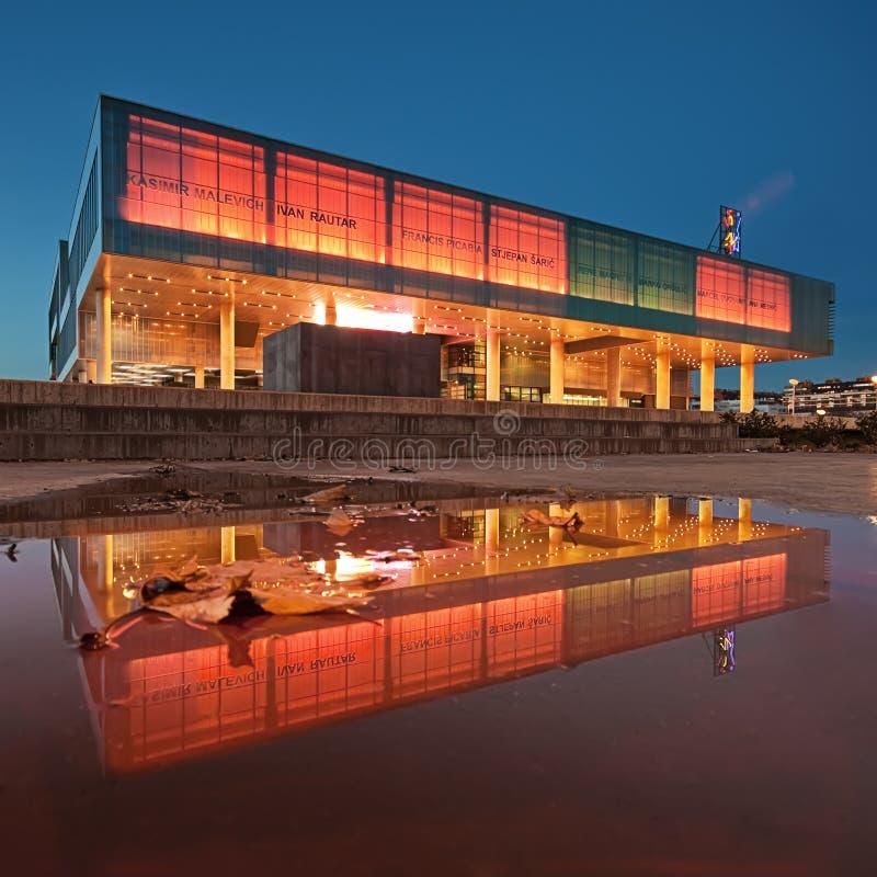 Museo di arte contemporaneo a Zagabria, Croatia immagine stock libera da diritti