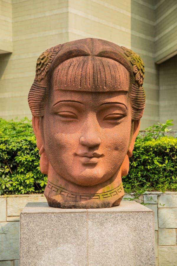 Museo di arte di Guangdong nell'ambito dei precedenti di cielo blu immagine stock