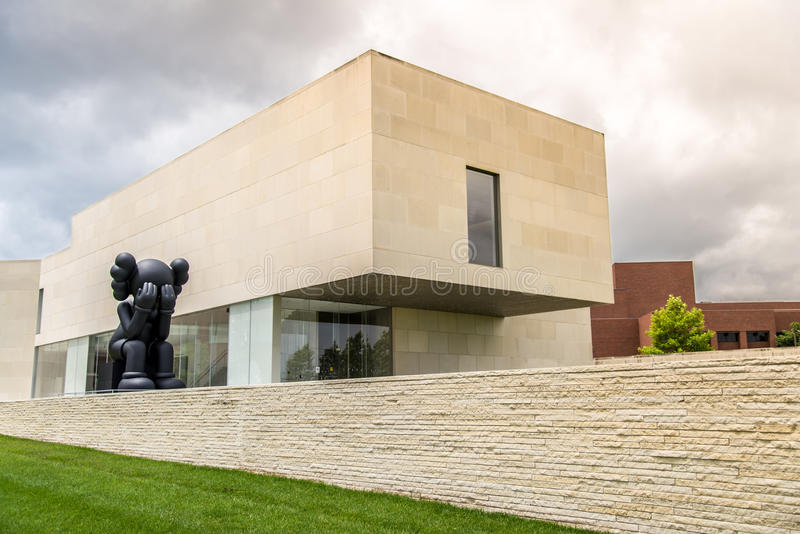 Museo di arte di Nerman a Kansas City fotografie stock