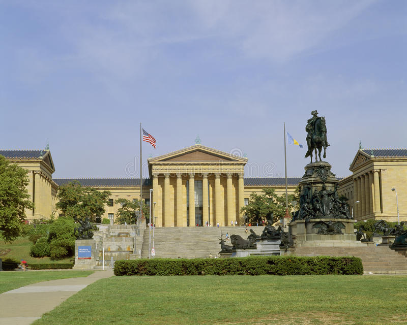Museo di Arte di Philadelphia fotografie stock