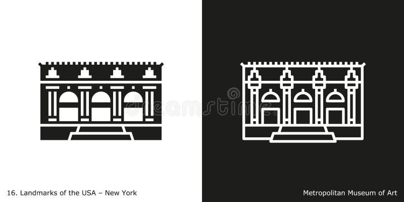 Museo di arte metropolitano illustrazione vettoriale
