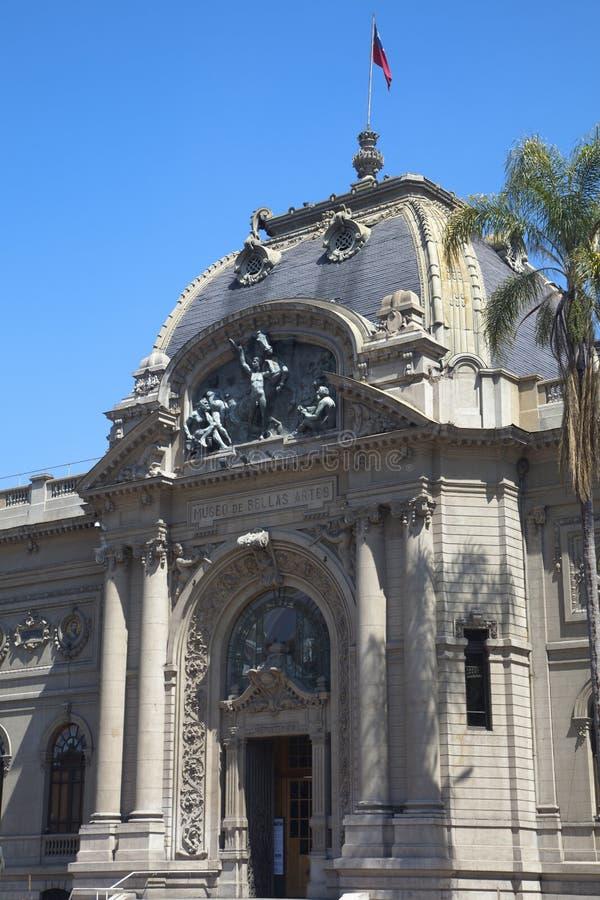 Museo di Bellas Artes, Santiago de Cile fotografia stock libera da diritti