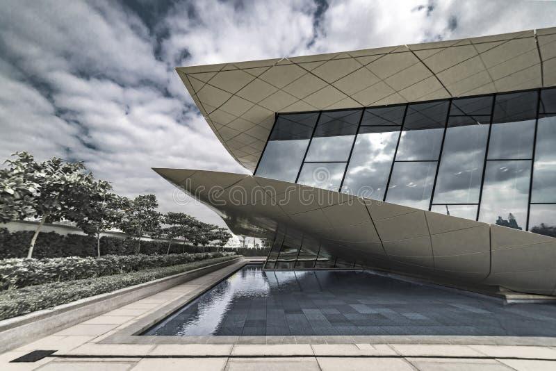 Museo di Etihad, museo del sindacato, Dubai, gennaio 2018 fotografia stock libera da diritti