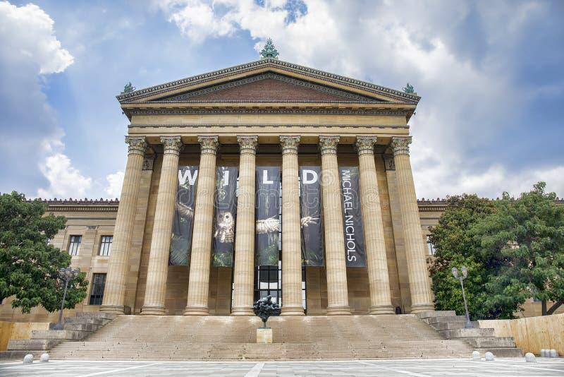 Museo di Filadelfia di Art Entrance fotografia stock libera da diritti