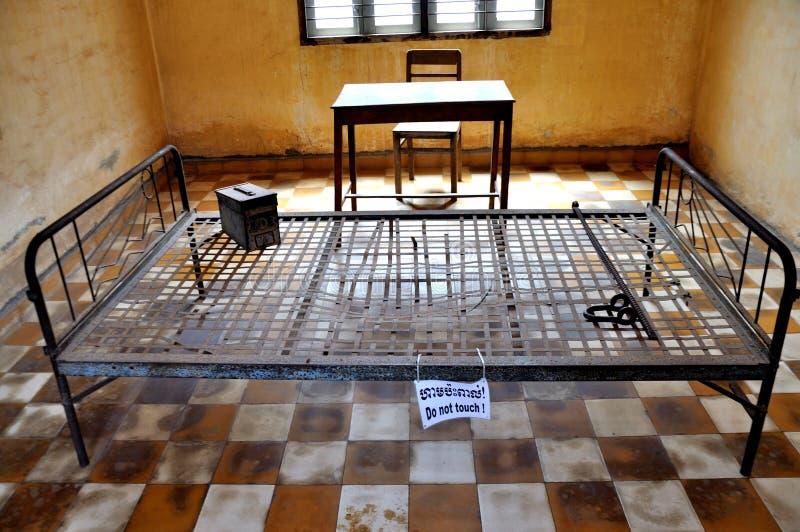 Museo di genocidio di Tuol Sleng, Phnom Penh, Cambogia immagine stock