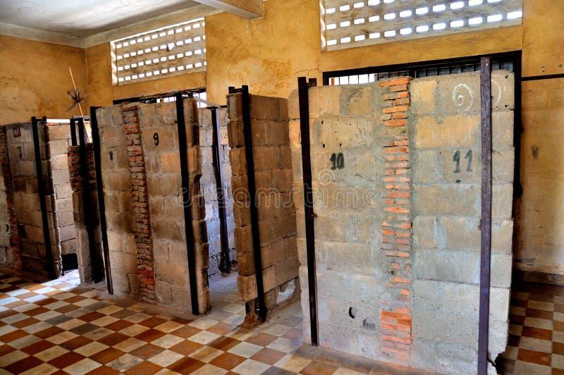 Museo di genocidio di Tuol Sleng, Phnom Penh, Cambogia immagini stock