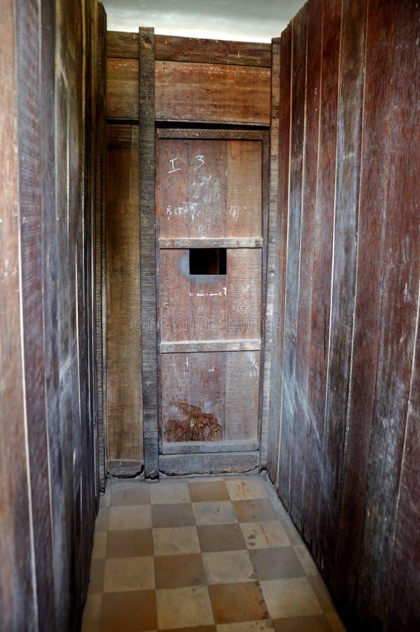 Museo di genocidio di Tuol Sleng, Phnom Penh, Cambogia immagini stock libere da diritti