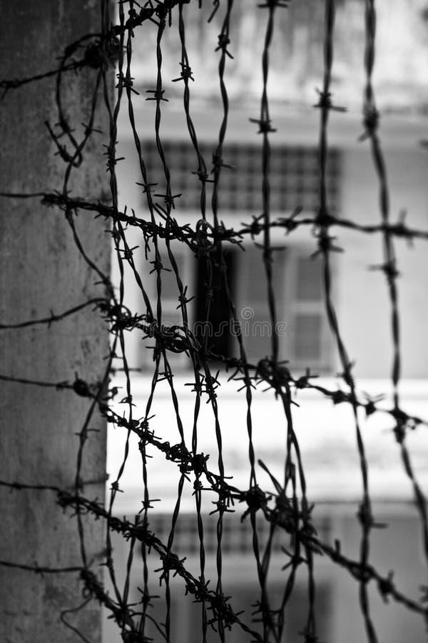 Museo di genocidio di Tuol Sleng s21, Phnom Penh, Cambogia immagine stock libera da diritti
