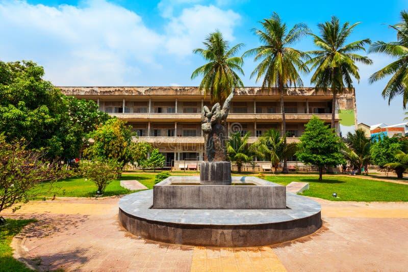 Museo di genocidio di Tuol Sleng, Phnom Penh immagine stock libera da diritti