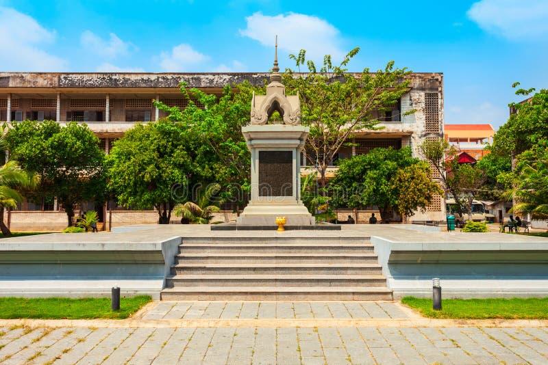 Museo di genocidio di Tuol Sleng, Phnom Penh fotografia stock libera da diritti