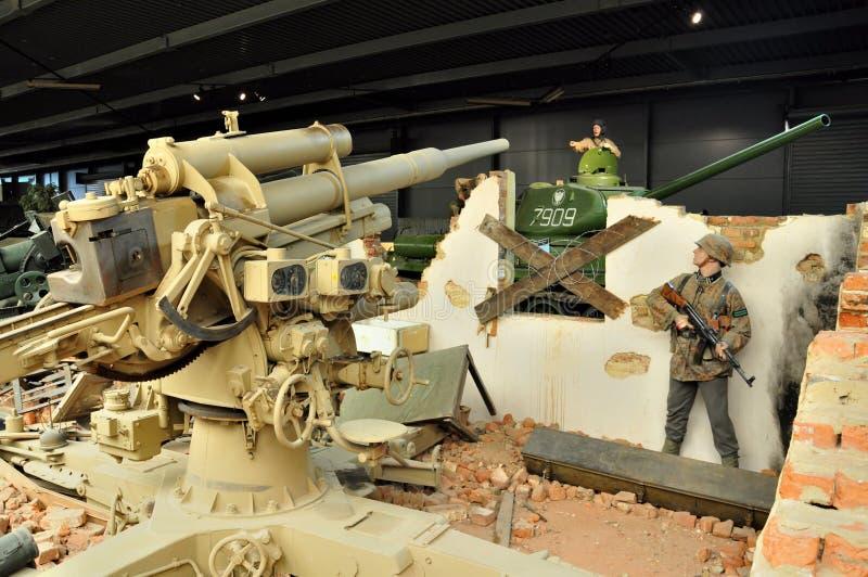 Museo di guerra di Duxford, Inghilterra - 21 marzo 2012 Museo imperiale di guerra di Duxford in U k fotografia stock