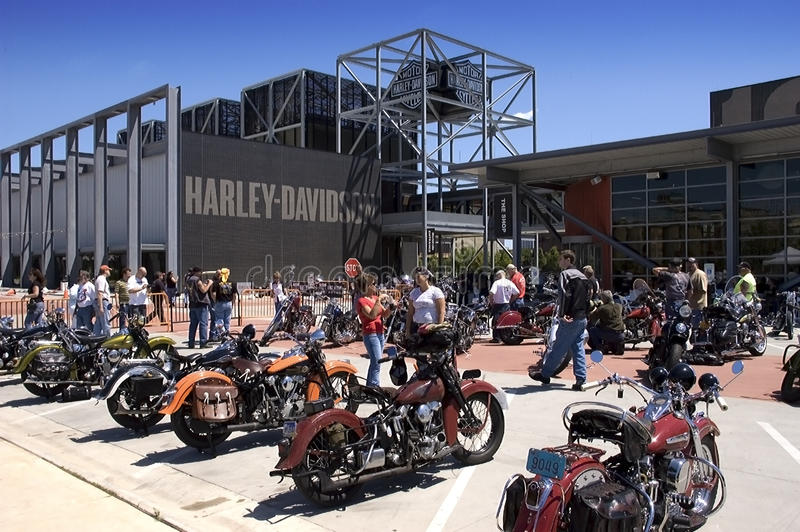 Museo di Harley Davidson a Milwaukee, WI fotografia stock libera da diritti