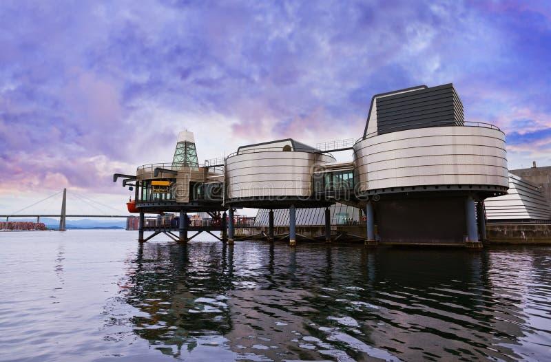 Museo di industria petrolifera Stavanger - in Norvegia fotografia stock libera da diritti