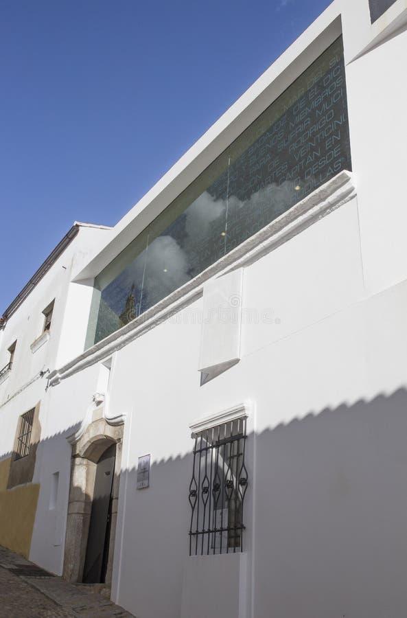 Museo di Nunez de Balboa House, Jerez de los Caballeros, Spagna fotografia stock