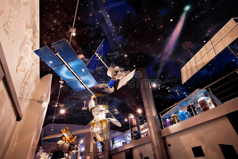 Museo di spazio a Mosca, Russia fotografie stock libere da diritti