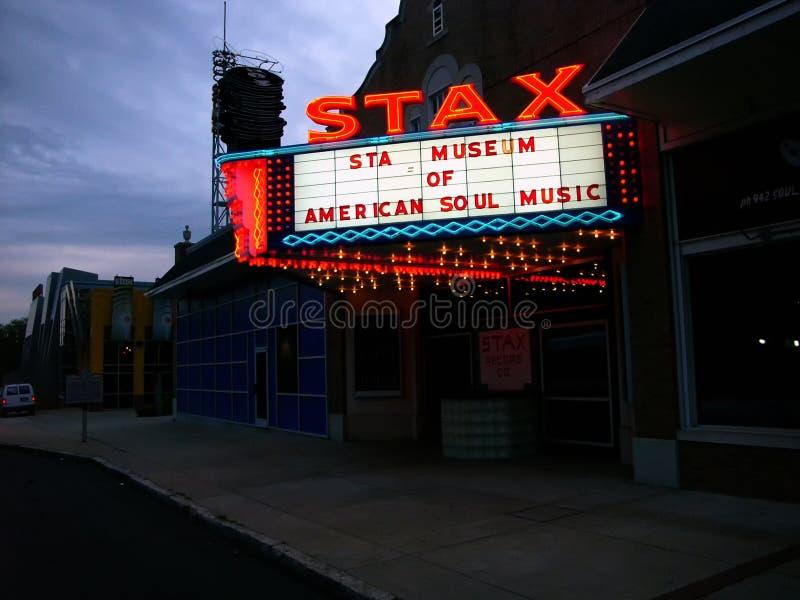 Museo di Stax, Memphis, TN fotografie stock libere da diritti