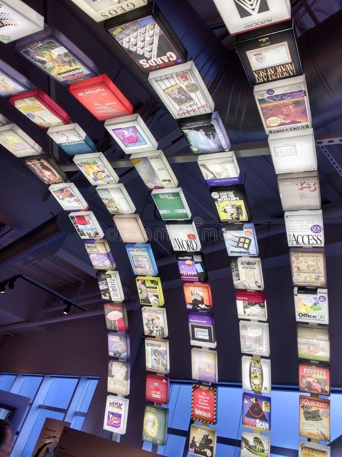 Museo di storia del computer fotografia stock libera da diritti