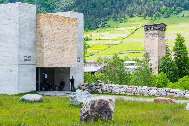 Museo di Svaneti di storia e di etnografia, Mestia immagine stock
