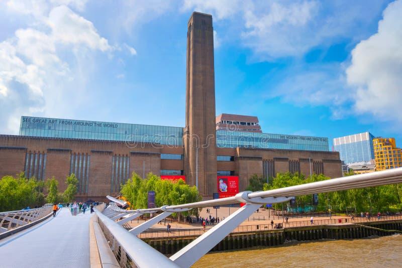 Museo di Tate Modern a Londra, Regno Unito immagini stock libere da diritti
