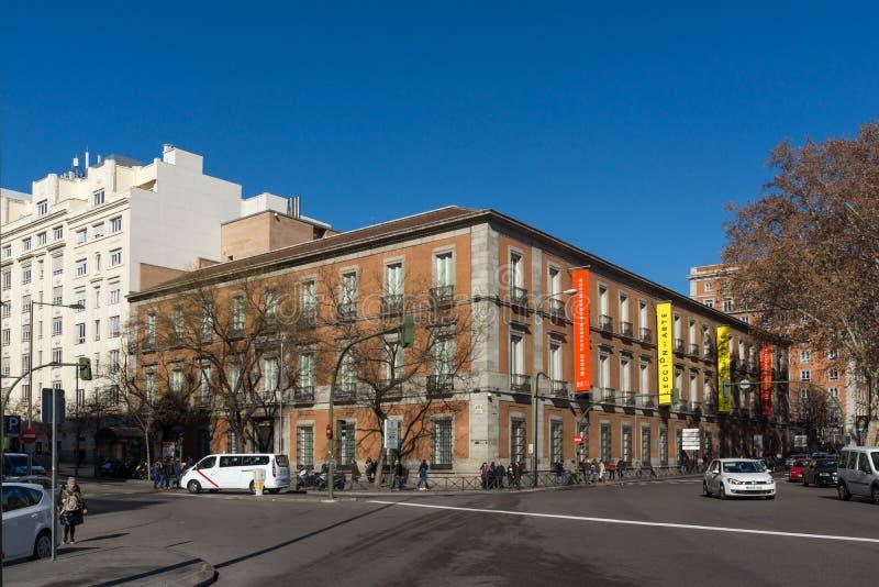 Museo di Thyssen Bornemisza in città di Madrid, Spagna fotografia stock libera da diritti