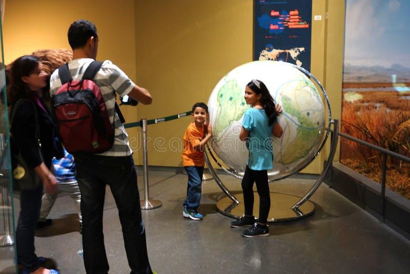museo di visita della natura della famiglia fotografia stock libera da diritti