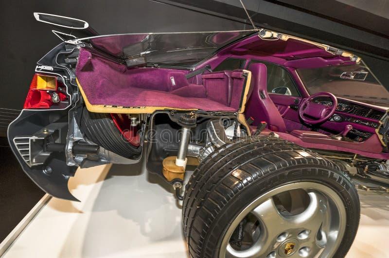Museo di visita di Porsche fotografia stock libera da diritti