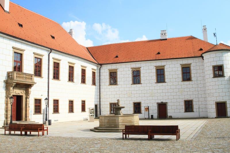Museo di Vysocina nel palazzo di Trebic fotografie stock libere da diritti