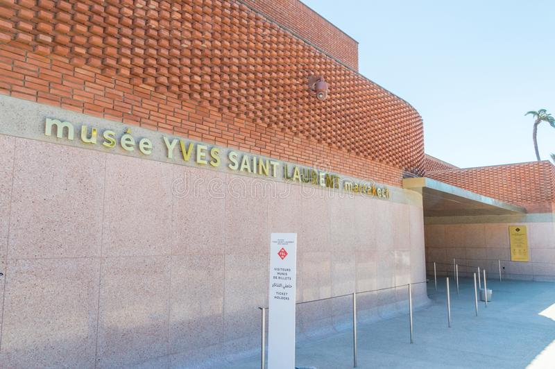 Museo di Yves Saint Laurent Marrakech fotografie stock