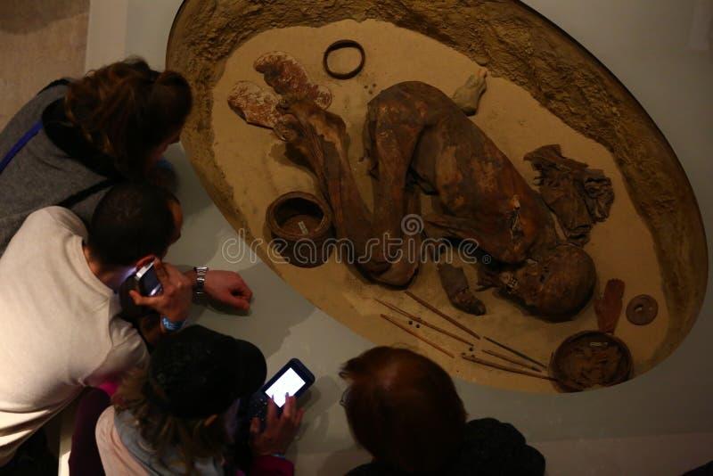 Museo egipcio en Turín imagenes de archivo