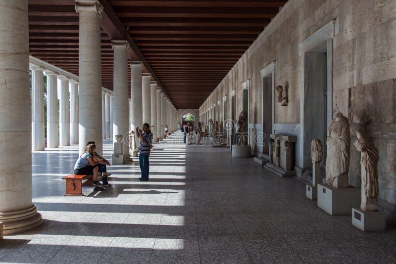 Museo en el ágora antiguo Atenas Grecia fotos de archivo libres de regalías