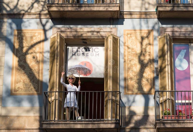 Museo erotico a Barcellona, Catalogna, Spagna immagine stock libera da diritti