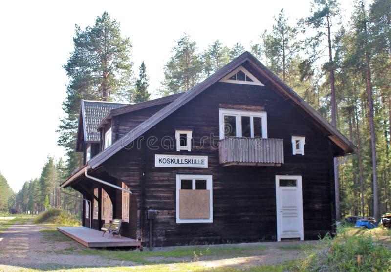 Museo ferroviario di Norrbotten in Luleå fotografie stock libere da diritti
