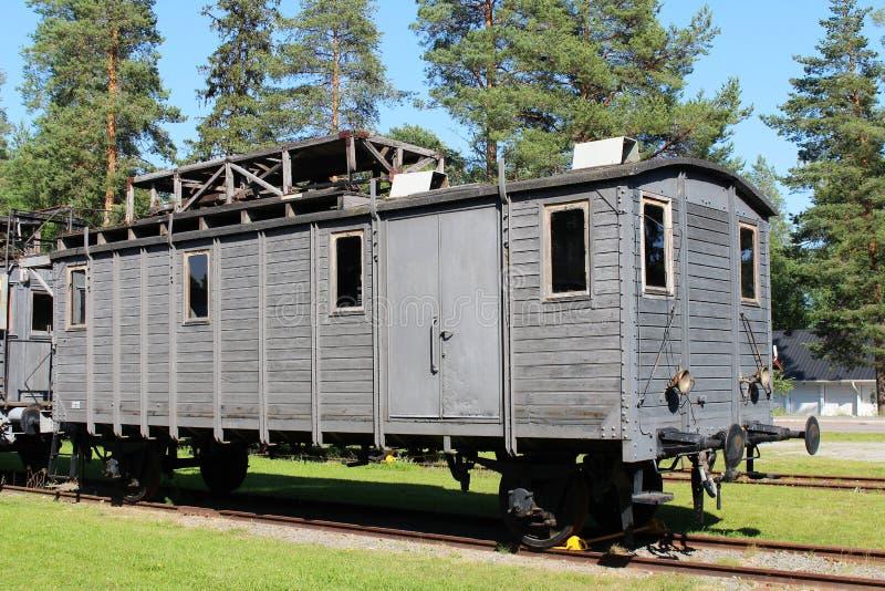 Museo ferroviario di Norrbotten in Luleå immagini stock libere da diritti