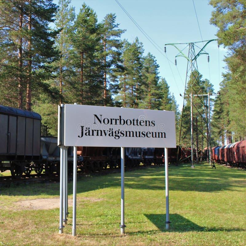 Museo ferroviario di Norrbotten nel 'Â¥di Ã'àdel ¡ del ¬Å del 'di ÃÆ'ââ del ¡ del ՉہÂ del †di â€à fotografia stock libera da diritti