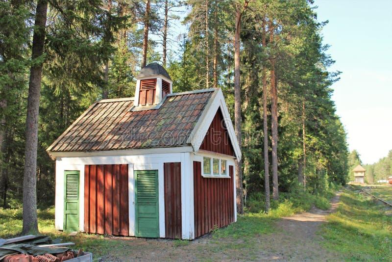 Museo ferroviario di Norrbotten nel 'Â¥ del 'Ã'à del † di LuleÃÆ'à fotografie stock libere da diritti