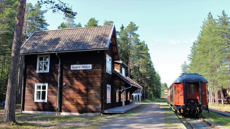 Museo ferroviario di Norrbotten nel ?? del ?Â? del ? di Lule??'? fotografia stock