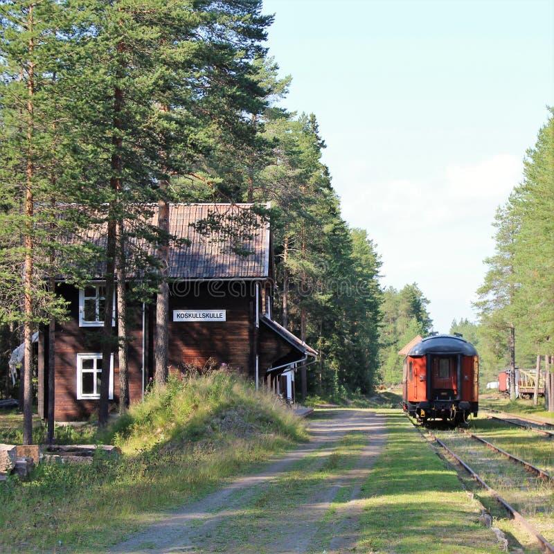 Museo ferroviario di Norrbotten nel ?? del ?Â? del ? di Lule??'? immagine stock libera da diritti