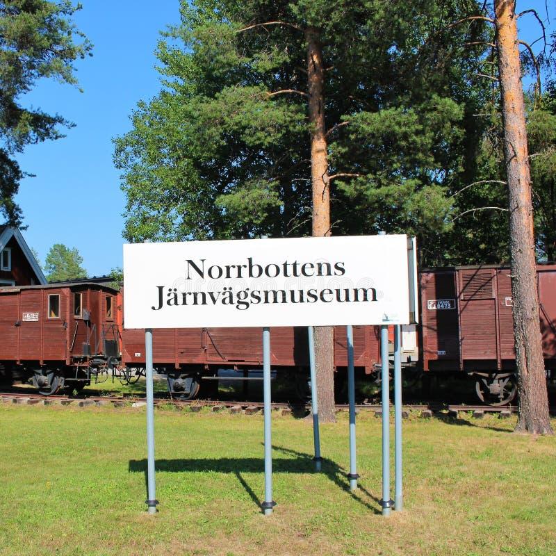 Museo ferroviario di Norrbotten nel ?? del ?Â? del ? di Lule??'? fotografia stock libera da diritti
